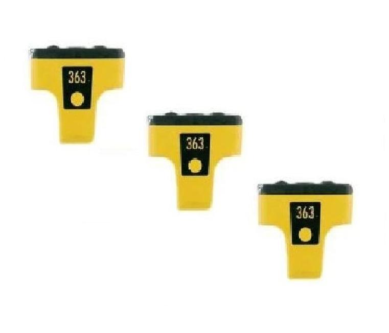 3 gelb patrone f r hp photosmart 3310 c5180 c6180 c6280 c7280 d7180 d7260 363 ebay. Black Bedroom Furniture Sets. Home Design Ideas
